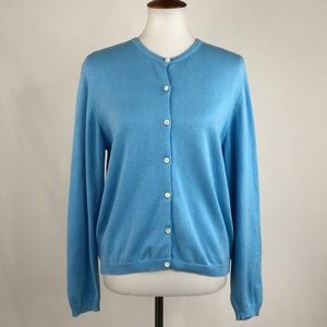Lilly Pulitzer Periwinkle Button Front Sweater
